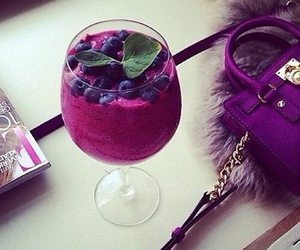 drink, purple, and fruit image