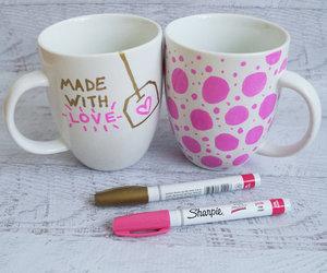 diy, mug, and pink image