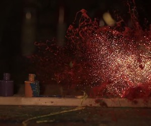 explosion, paint, and love image