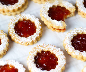 christmas, Cookies, and linzer image