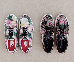 awesome, vans, and flowers image