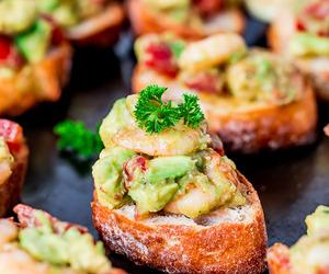 avocado, shrimp, and crostini image