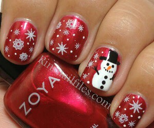 christmas, nail art, and red image