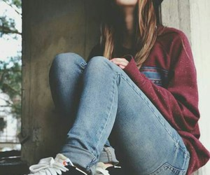 girl, smoke, and nike image