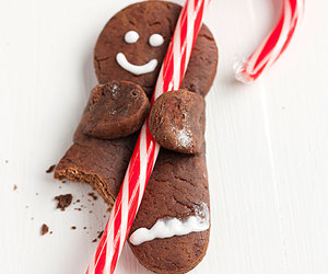 candy cane, chocolate, and Cookies image