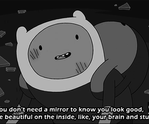 adventure time, beautiful, and mirror image