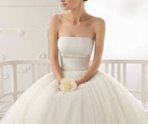 wedding dress, bridal gown, and dress image