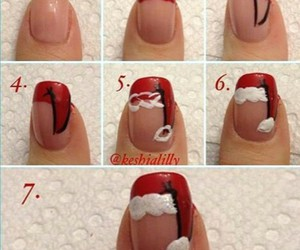 christmas, diy, and nail art image