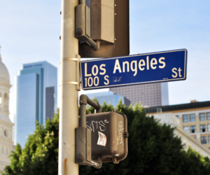 los angeles and sign image
