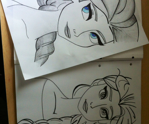 draw, snow queen, and elsa image