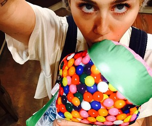 miley cyrus, candy, and mileycyrus image