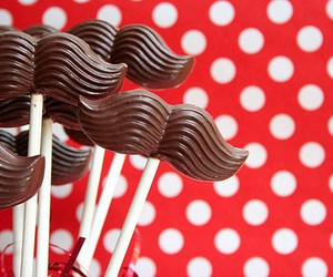 chocolate, mustache, and moustache image