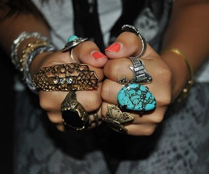 fashion, rings, and girl image