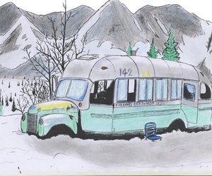 alaska, bus, and chris image