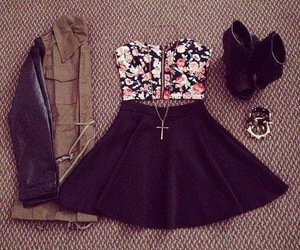 cool, flowers, and outfit image