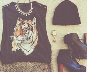 beanie, black, and outfit image