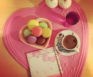 coffee, pink, and sweet image