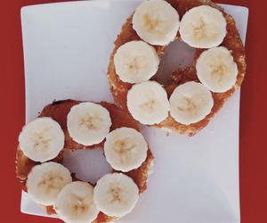 bagel, banana, and easy food image