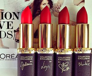 loreal, lipstick, and makeup image