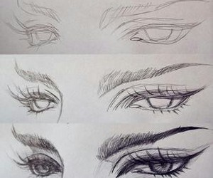 eyes, drawing, and art image