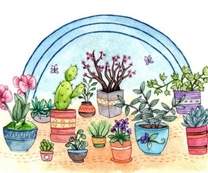 plants, flowers, and draw image