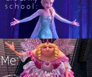 frozen, funny, and school image