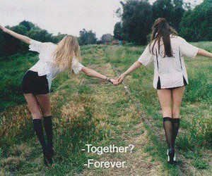 best friends, sisters, and forever together image