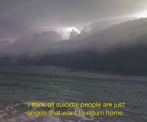 angel, quotes, and suicide image