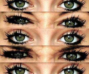 eyes, green, and beautiful image