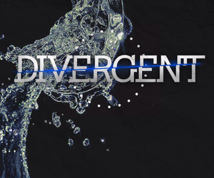 divergent, book, and four image