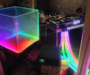 color, cube, and dj image