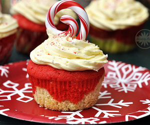 baking, cakes, and candy cane image