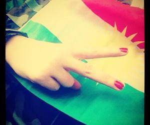 day, flag, and kurd image