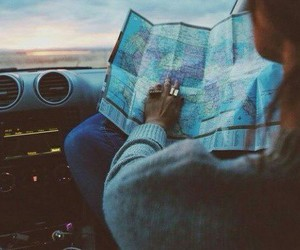 explore, map, and travel image