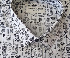fashion, shirt, and saint laurent image