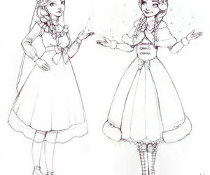 anna, lolita, and draw image