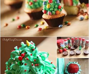 chocolate, chocolate cupcakes, and christmas image