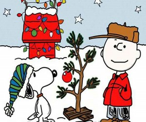 christmas tree, snoopy, and new year image