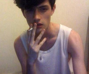 boy, pale, and cigarette image