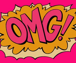 OMG, pop art, and pink image