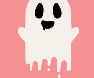 ghost, pink, and wallpaper image