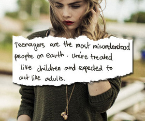 teenager, quote, and Adult image