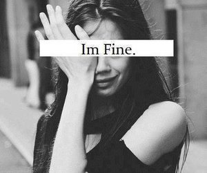 crying, lie, and i'm fine image