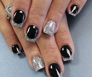 nails, black, and silver image