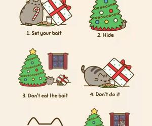 christmas, santa, and cat image