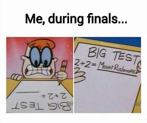 finals, funny, and me image
