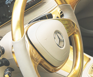 car, gold, and luxury image