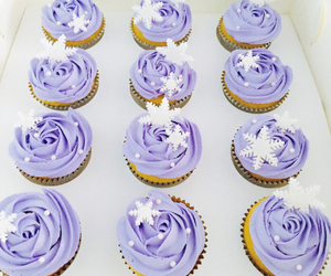 cupcake, purple, and snowflake image