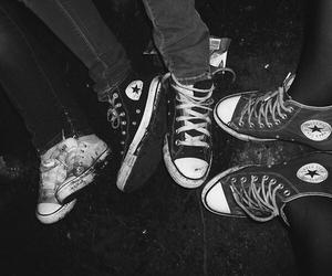 converse, black, and grunge image