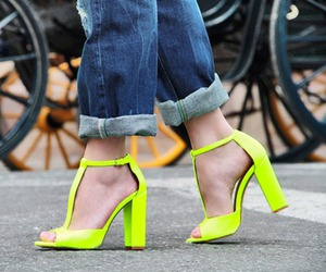 fashion, neon, and shoes image